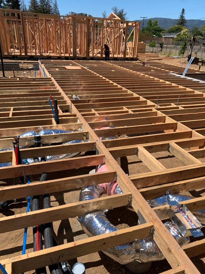 Campbell, CA - Installing new duct work in Campbell