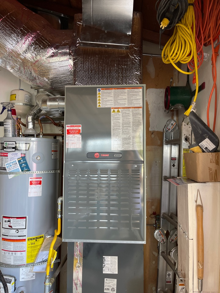 San Jose, CA - Installing a new Trane heating and air conditioning system in San Jose.