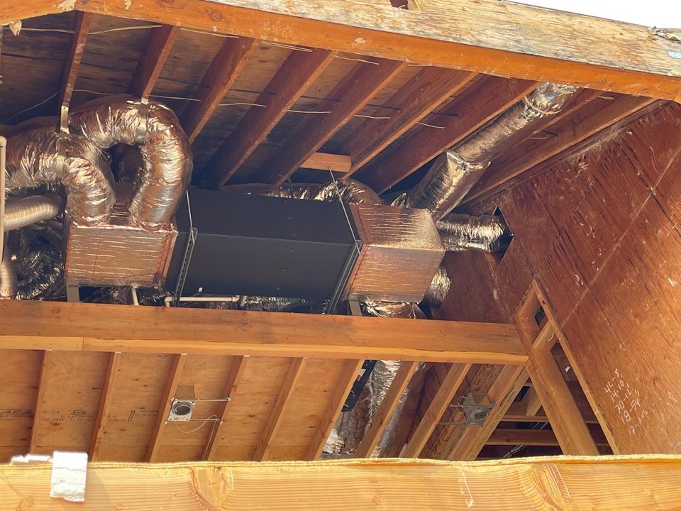 Los Gatos, CA - Installing a Mitsubishi heat pump system in Los Gatos.