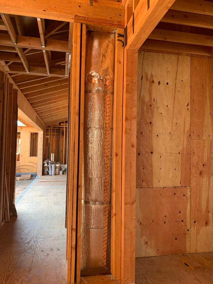 Los Altos, CA - Installing new ductwork in Los Altos