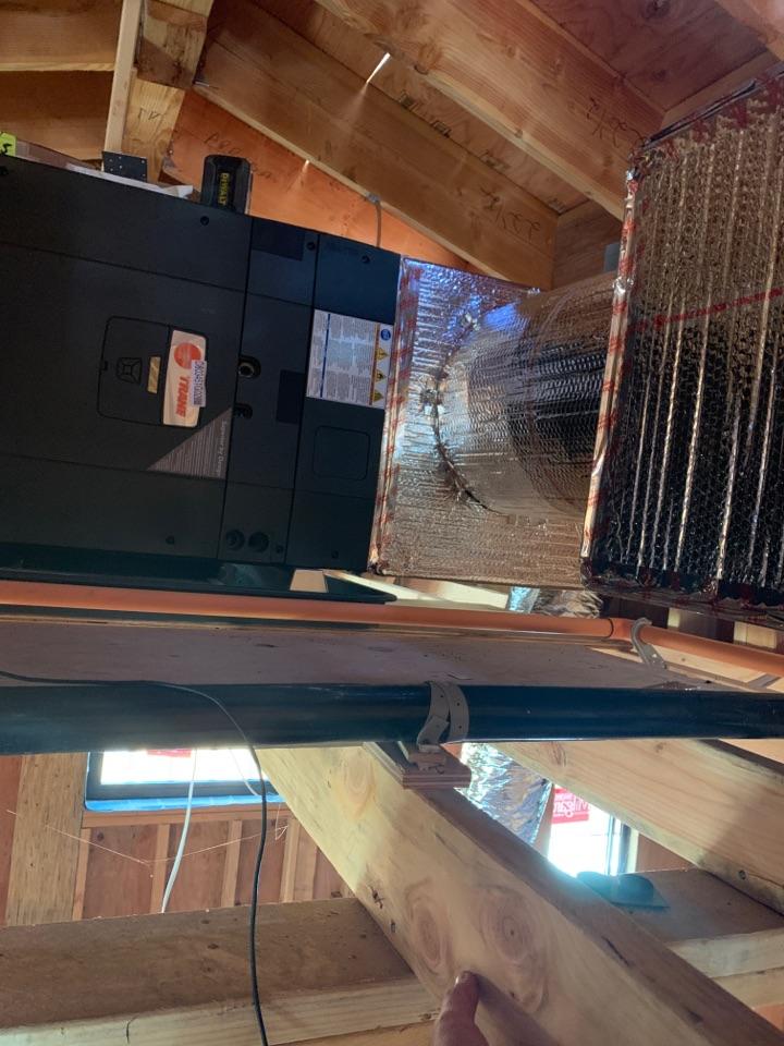 Installing a new TRANE system in Los Altos.