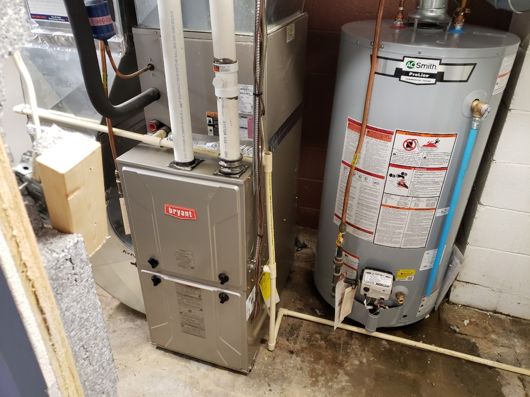 Installed new furnace and water heater