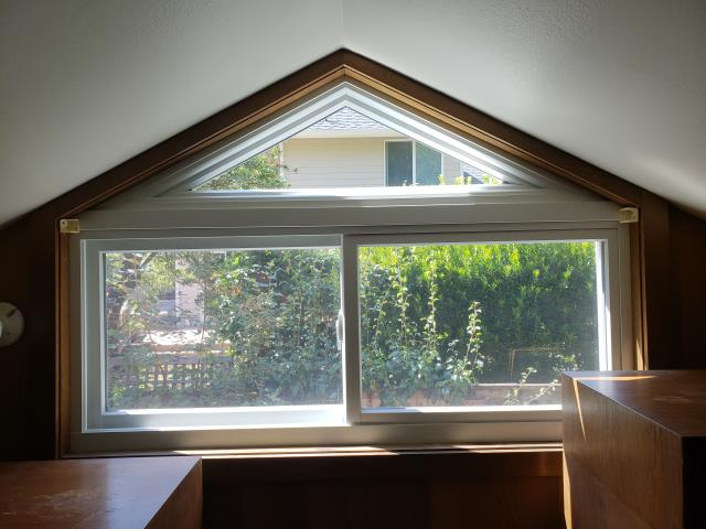 Mercer Island, WA - Letting a little light into this office space by installing a combination Custom Window and Gliding Window.