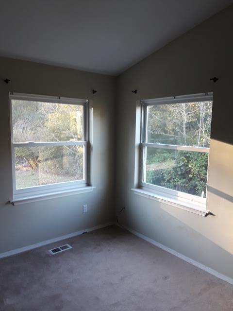Camano Island, WA - These simple Double Hung Fibrex Windows will allow easy air flow and extra light into this corner room.