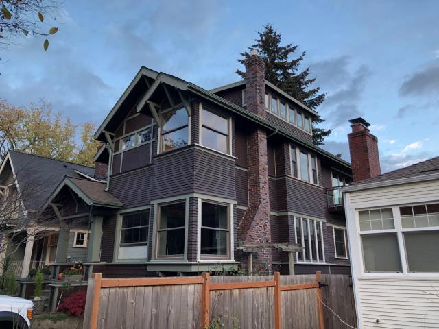 Seattle, WA - This beautiful 1910 craftsman home in Seattle had a second story added over a decade ago. The high quality Renewal by Andersen windows complemented the existing charm perfectly.