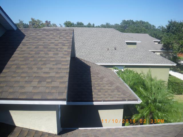 Winter Springs, FL - Wind claim settled . GAF Barkwood installed. Making Winter Springs beautiful one house at a time .