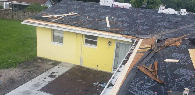 Winter Park, FL - Insurance claim settled . Home owner is adding a screen room and we are doing the upgrades for the super gutter . Always ask for Jeff B