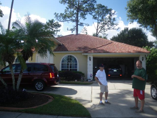 Orlando, FL - Ready to remove the old tile roof . Call Jeff B for a free quote .