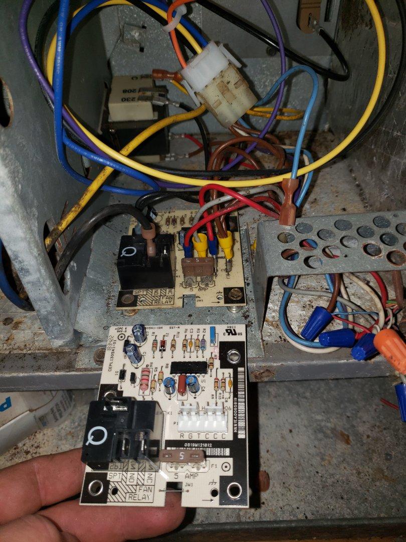 Corpus Christi, TX - Replacing faulty circuit board on air handler in corpus christi, tx