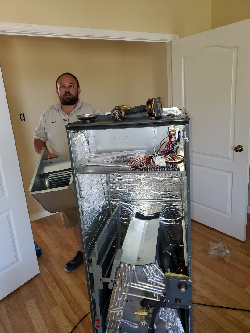 Corpus Christi, TX - Ac replacement ac repair in corpus christi texas. Installation of new 16 seer ac unit.