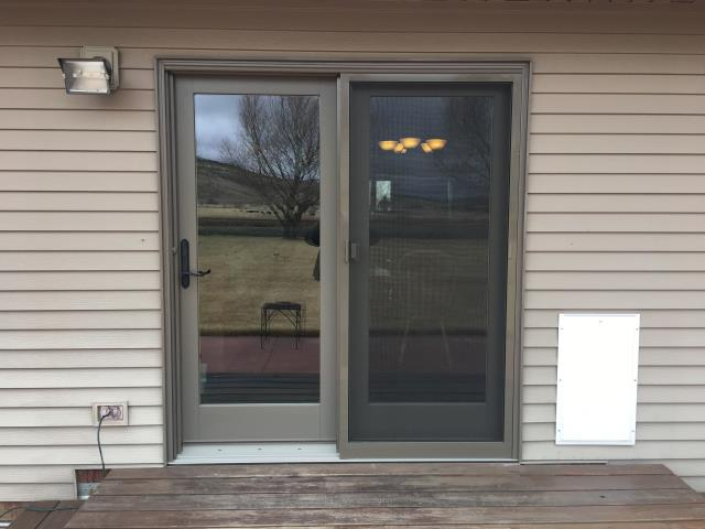Cody, WY - Replaced an old door that didn't open and close properly with a new Renewal by Andersen French door in Cody!