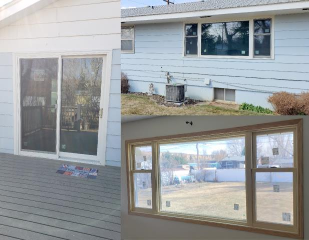 Greybull, WY - This Greybull home had 3 new brick mold windows and a new sliding patio door replaced by our professional installers.