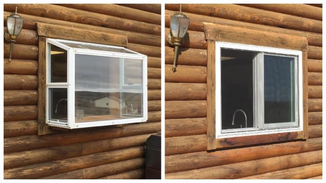 Buffalo, WY - We replaced 5 windows on a home in Buffalo that were damaged from a hail storm with energy efficient Fibrex windows from Renewal by Anderson of Wyoming