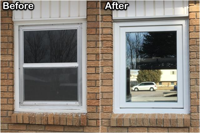 Wheatland, WY - This customer in Wheatland replaced old inefficient windows with this new RbA Fibrex® Casement window!