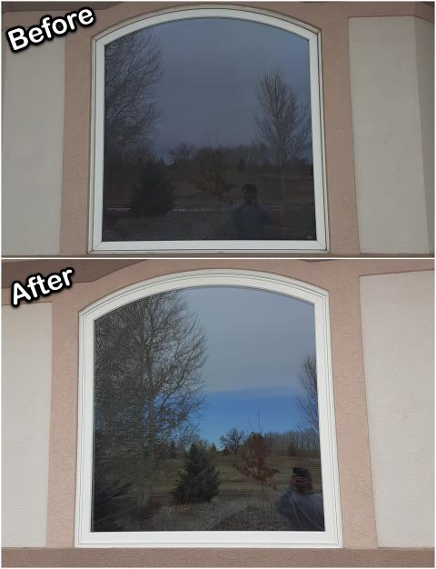 Riverton, WY - These Riverton homeowners replaced their old vinyl window with this new Fibrex® picture window