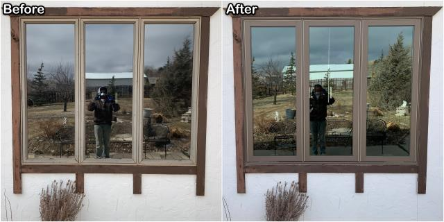 Gillette, WY - These Gillette homeowners upgraded their old vinyl windows with these new RbA Fibrex® Casement windows.