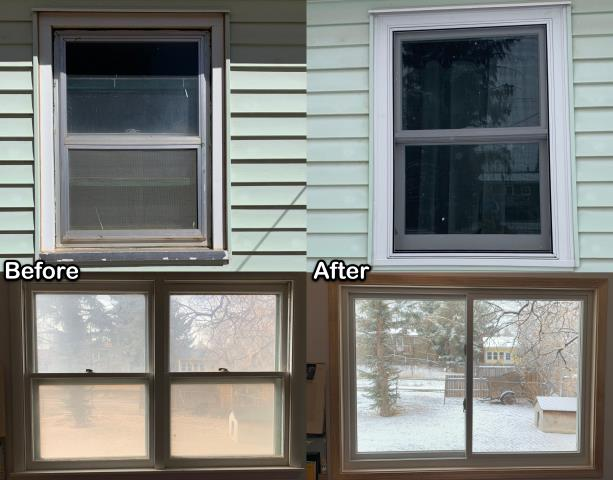Laramie, WY - We replaced these old inefficient windows with new RbA Fibrex® windows on this home in Laramie.
