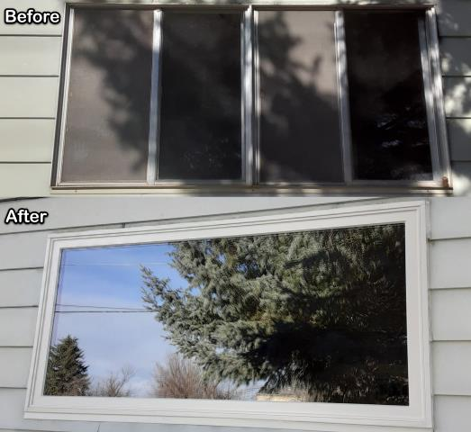 Thermopolis, WY - We replaced old aluminum windows with new Fibrex® windows for this homeowner in Thermopolis!