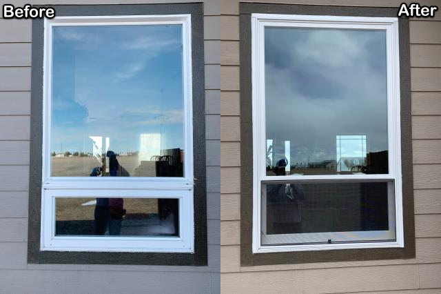 Cheyenne, WY - We replaced old vinyl windows for this customer in Cheyenne with new Renewal by Andersen Fibrex® windows.