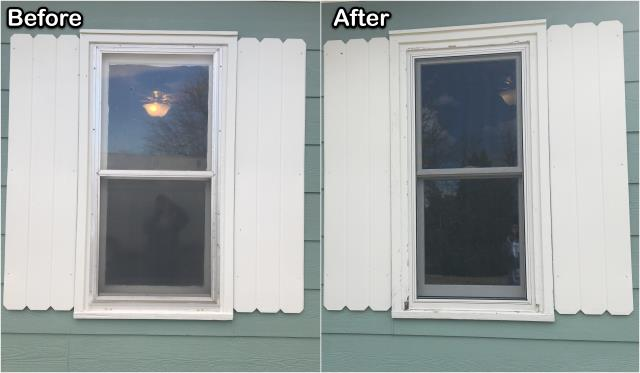 Wheatland, WY - This Wheatland home had old inefficient windows replaced with new RbA Double-hung windows!