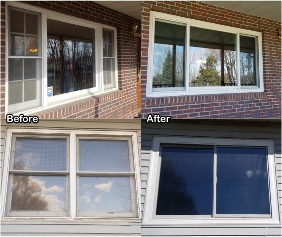 Gillette, WY - We replaced old windows with new RbA Fibrex® windows on this home in Gillette!
