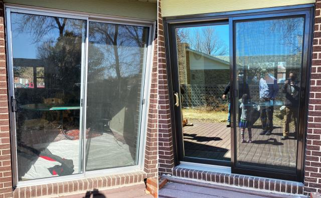 Cheyenne, WY - This Cheyenne, WY home upgraded their patio door to our Energy Efficient Sliding Glass Patio Door!
