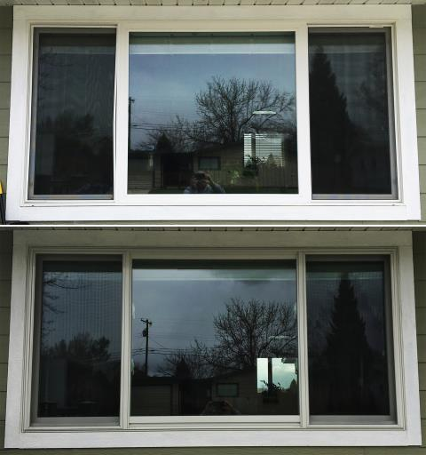 Buffalo, WY - This Buffalo, WY home upgraded their windows to our 5 Star Energy Efficient Fibrex Windows!