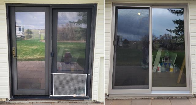 Gillette, WY - This Gillette, WY home upgraded their patio door to our Energy Efficient Sliding Glass Patio Door!