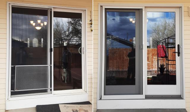 Casper, WY - This Casper, WY home upgraded their patio door to our Energy Efficient Sliding Glass Patio Door!