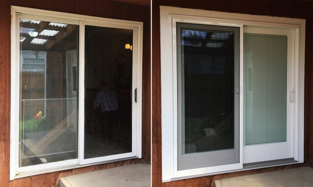 Casper, WY - This Casper, WY home upgraded their windows to our 5 Star Energy Efficient Fibrex Windows and patio door to our Sliding Glass Patio Door!