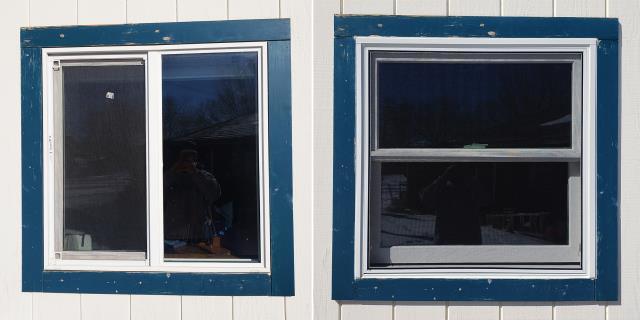 Laramie, WY - This Laramie, WY home upgraded their windows to our 5 Star Energy Efficient Fibrex Windows!