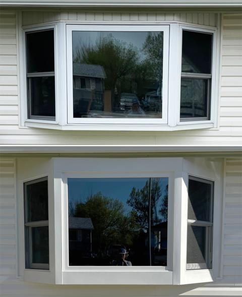 Gillette, WY - This Gillette, WY home upgraded their windows to our 5 Star Energy Efficient Fibrex Windows & their patio door to our Energy Efficient Sliding Glass Patio Door!