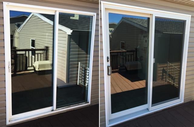 Gillette, WY - This Gillette, WY home upgraded their windows to our 5 Star Energy Efficient Fibrex Windows and patio door to our energy efficient Sliding Glass Patio Door!