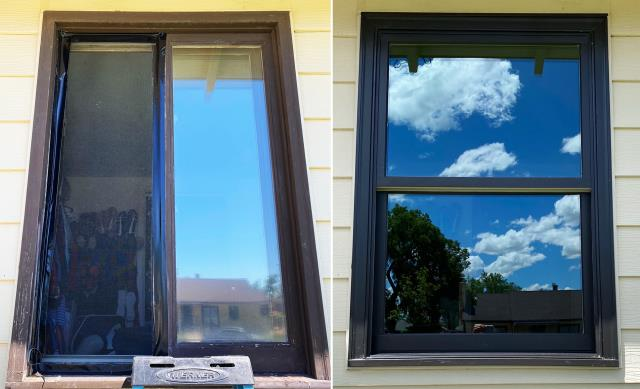 Chappell, NE - This Chappel, NE home upgraded their windows to our 5 Star Energy Efficient Fibrex Windows!