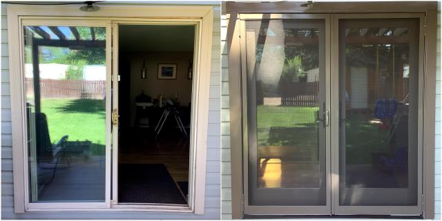 Buffalo, WY - We replaced this old Patio door with a new RbA Sliding door for these folks in Buffalo!
