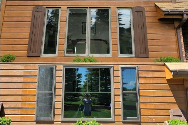 Cheyenne, WY - These Cheyenne customers upgraded their old casement windows with these new RbA Fibrex® Double-hung & Picture Windows!!