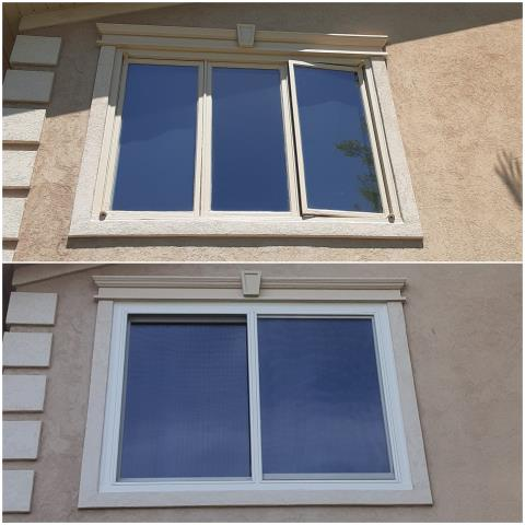 Buffalo, WY - This customer in Buffalo opened up their view by replacing these old casement windows with this new RbA Fibrex® Slider!