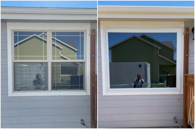 Casper, WY - Gorgeous upgrade done in Casper! Look at the beautiful RbA Fibrex® picture window!