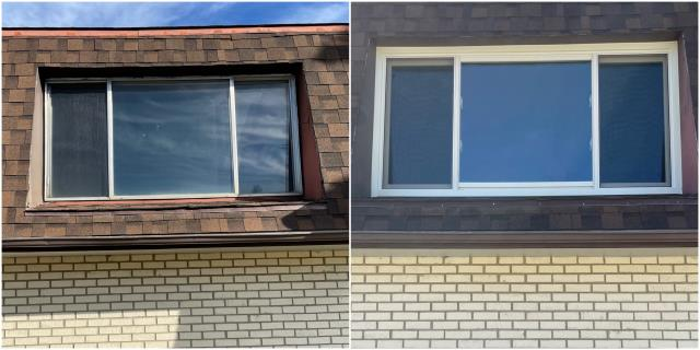 Casper, WY - Beautiful install done in Casper! Just look at the difference that our RbA Fibrex® windows do!