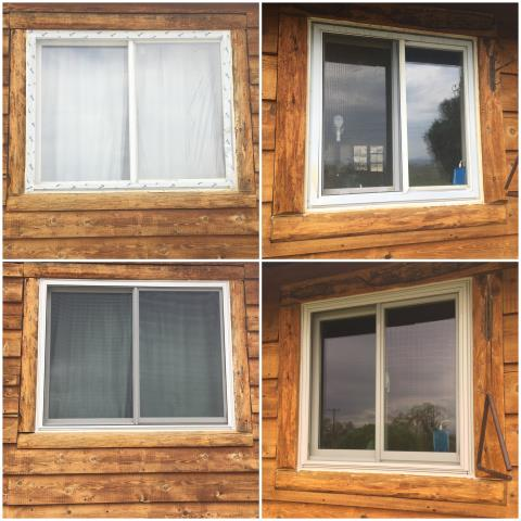 Riverton, WY - These folks in Riverton upgraded their old windows to our RbA Fibrex® windows!