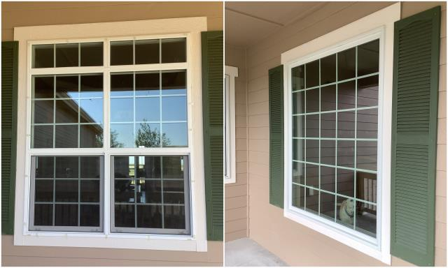 Cheyenne, WY - Beautiful upgrade done in Cheyenne! We took their old double-hung window and put in a gorgeous colonial grille pattern picture window with a white exterior!