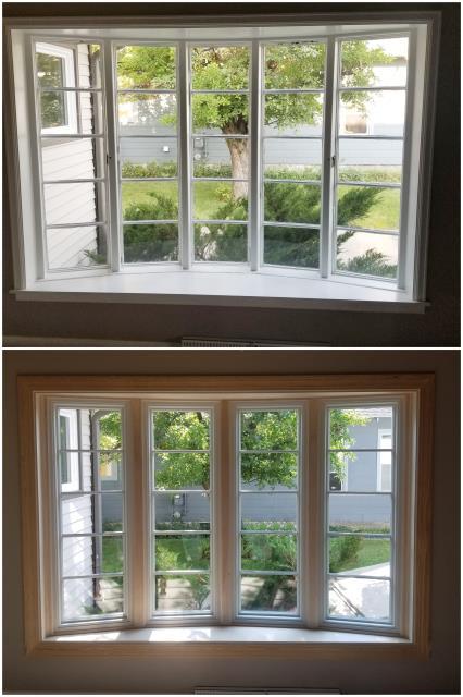 Cody, WY - Beautiful RbA Fibrex® Bay window with real oak interior trim!