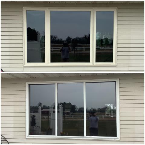Buffalo, WY - Our crew went to Buffalo to replace this old window with our RbA Fibrex® Gliding Triple Window with a white exterior finish!