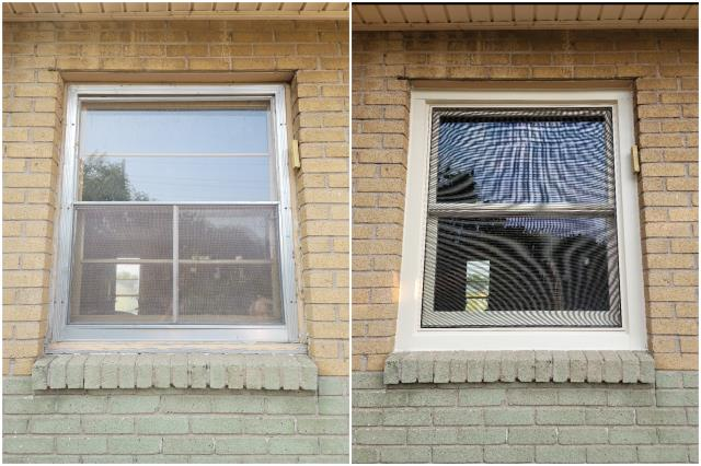 Cheyenne, WY - Our team went to Cheyenne and replaced this old window with our RbA Firbex® Gliding Window with fiberglass insect screen!
