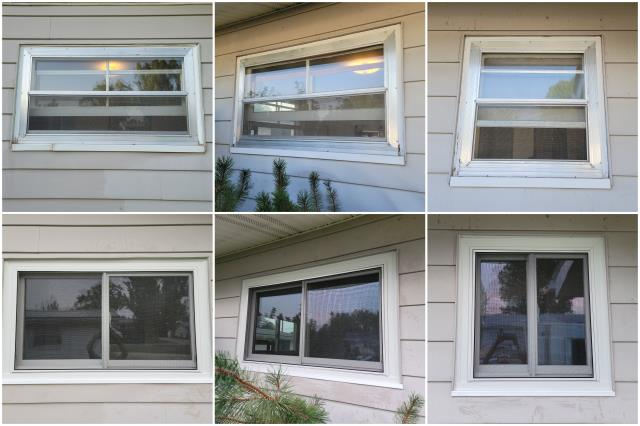 Riverton, WY - Stunning upgrade done in Riverton! We replaced these old windows with our RbA Fibrex® Gliding windows finished with a white exterior trim.