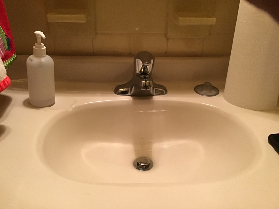 New Moen Chateau lav faucet installed.