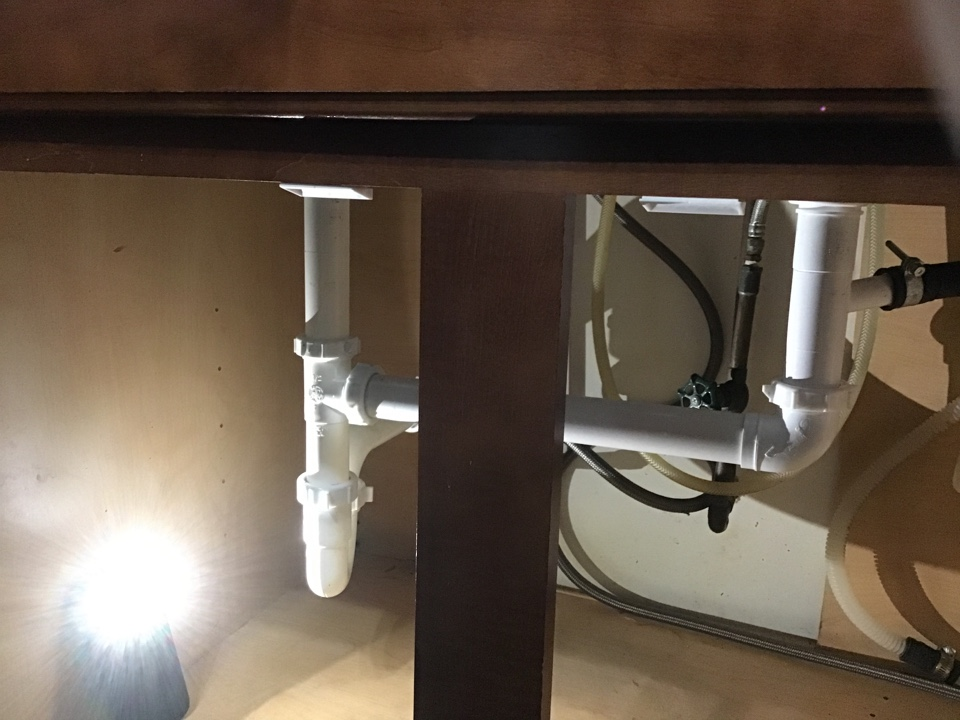 New end outlet drain assembly installed.