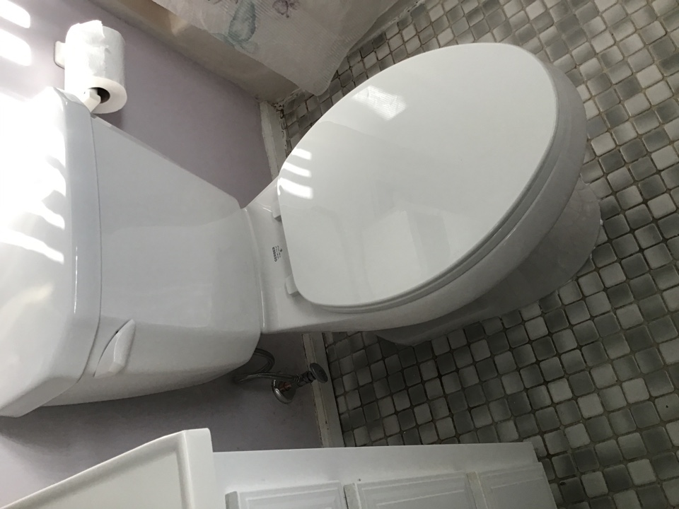 Seaside Heights, NJ - Supplied and installed one new Gerber viper toilet