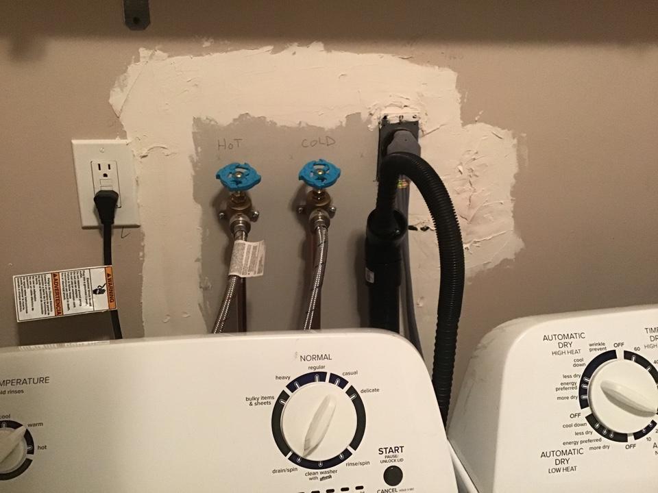 Snaked washing machine drain line