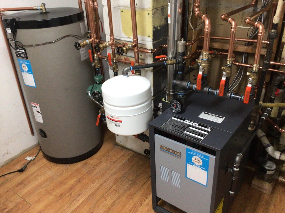 Toms River, NJ - Replaced boiler. Supplied and installed one new Weil McLain boiler and indirect fired water heater